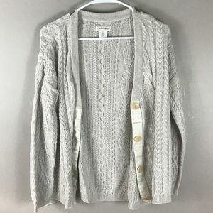 Neesh by D.A.R. Stone cable knit cardigan sweater